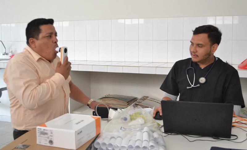 Examen médico de salud ocupacional pasaron trabajadores de la UPA-1