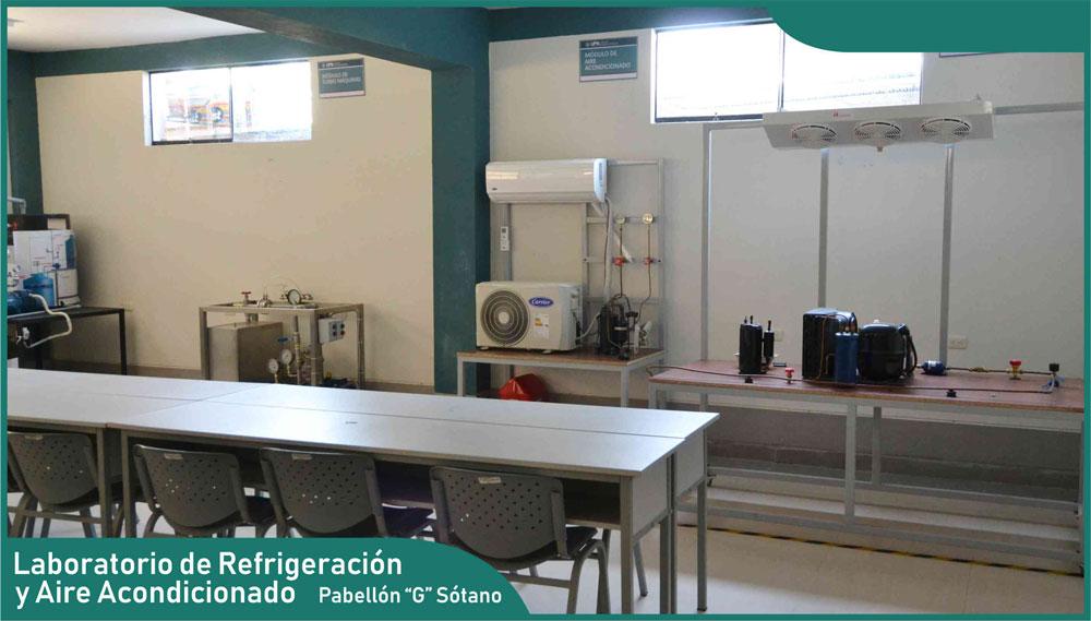 Carrera de Ingeniería Mecánica - Laboratorio de Refrigeración y Aire Acondicionado