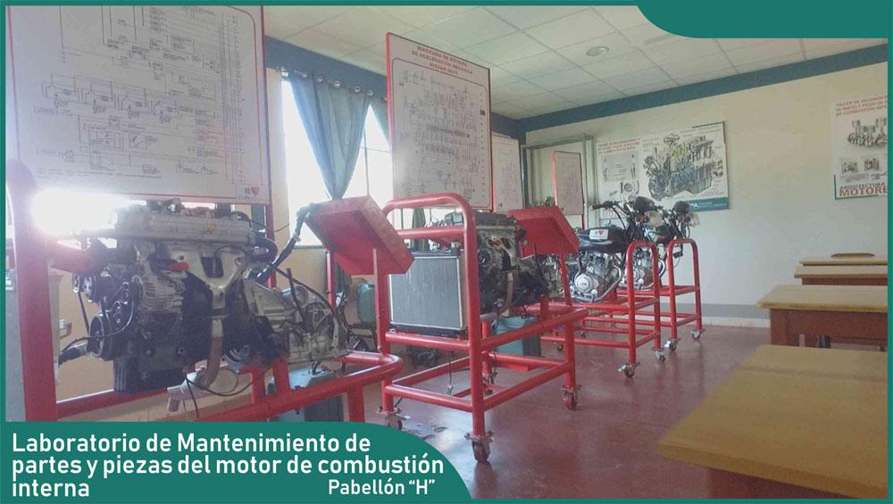 Carrera de Ingeniería Mecánica - Laboratorio de Mantenimiento Partes y Piezas del Motor de Combustión Interna